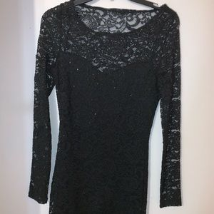 Dresses & Skirts - Lace Bodycon Long Sleeve Party Dress